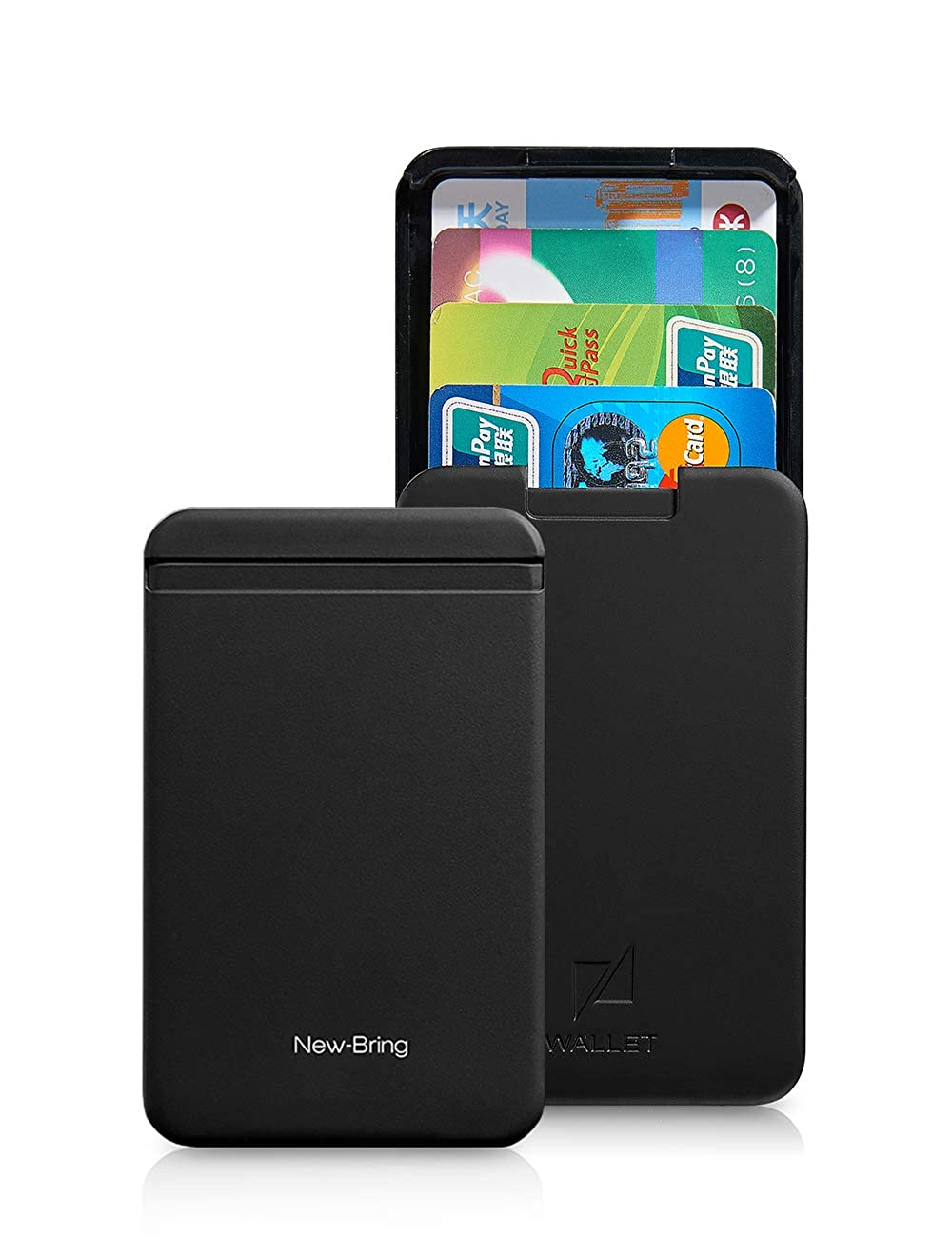 NewBring Automatic Pop Up Non RFID Blocking Wallets for Men Credit