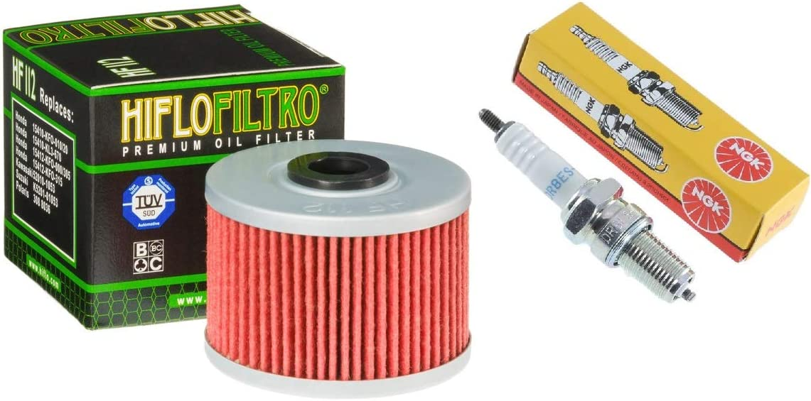 Tune Up Kit Spark Plug Oil Filter Dual Stage Air Filter Honda ATC350X ATC 350X