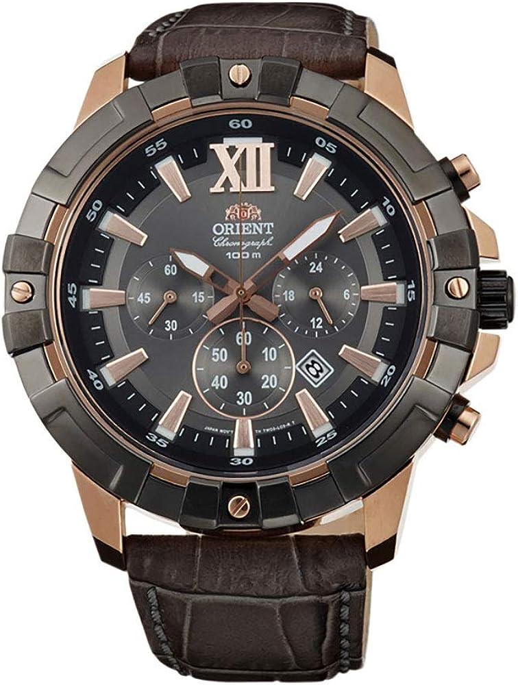 Orient Reloj Cronógrafo para Hombre de Cuarzo con Correa en Cuero FTW03005A0