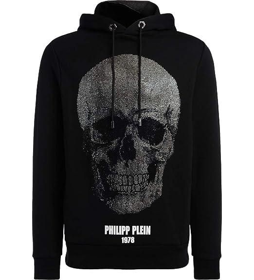 a18193dfc836f Philipp Plein Men s Sweatshirt Black Black - Black - S  Amazon.co.uk ...
