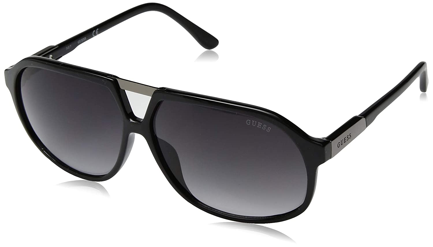 GUESS ユニセックスアダルト  Black/Smoke Gradient Lens B075FXMCPP