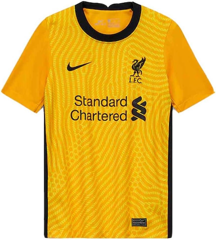Nike 2020-2021 Liverpool Goalkeeper Football Soccer T-Shirt Jersey (Yellow) - Kids