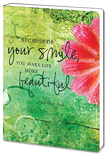- Tree-Free Greetings Recycled Soft Cover Journal, Ruled, 5.5 x 7.5 Inches, 160 Pages, Your Smile Themed Inspiring Quote Art (88473)