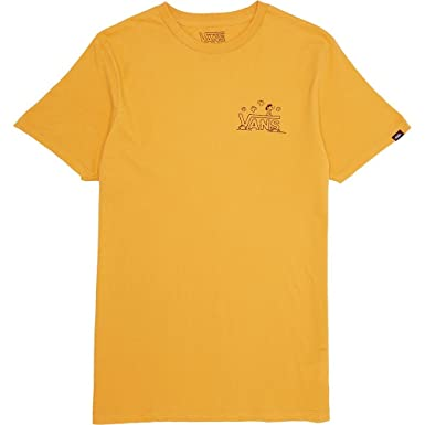 86cbcc958a Amazon.com: Vans x Peanuts Men Classic Snoopy Tee yellow Size 2XL US ...