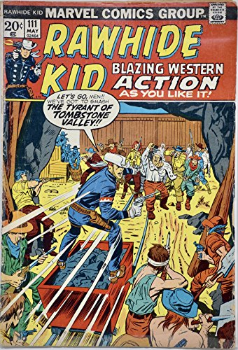 1973 - Marvel - Rawhide Kid #111 - Vintage Comic Book (Cartoon Tombstone)