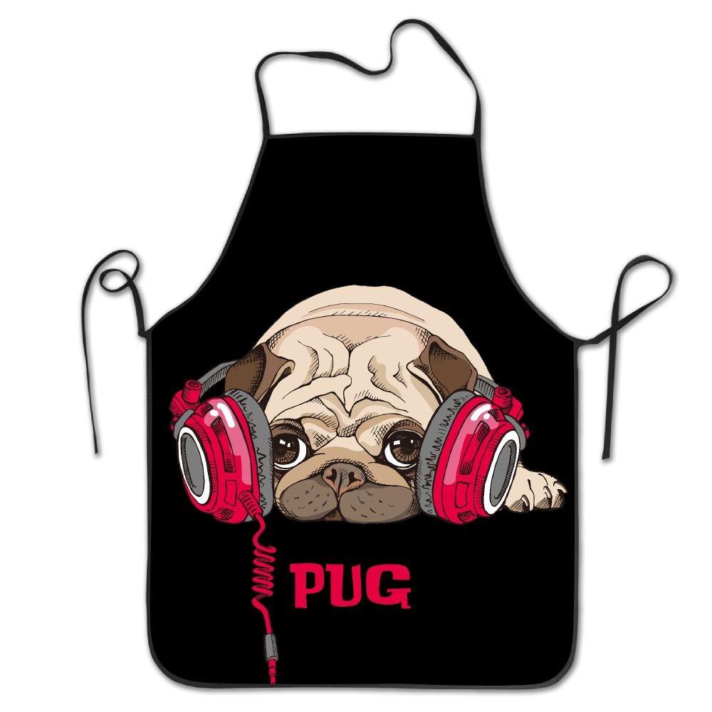 かわいい犬ロックエッジ防水耐久性文字列調節可能お手入れ簡単料理エプロンキッチンエプロンレディースメンズのシェフ   B076BZ4M97