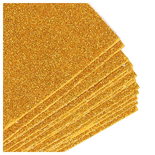 (Foam Sheets - 32-Pack Adhesive Glitter Foam Sheets, Sticky Back Foamies Craft Foam Sheets for Classroom Projects, Scrapbooking, DIY Arts and Crafts, Gold, 8 x 12 x 0.05)