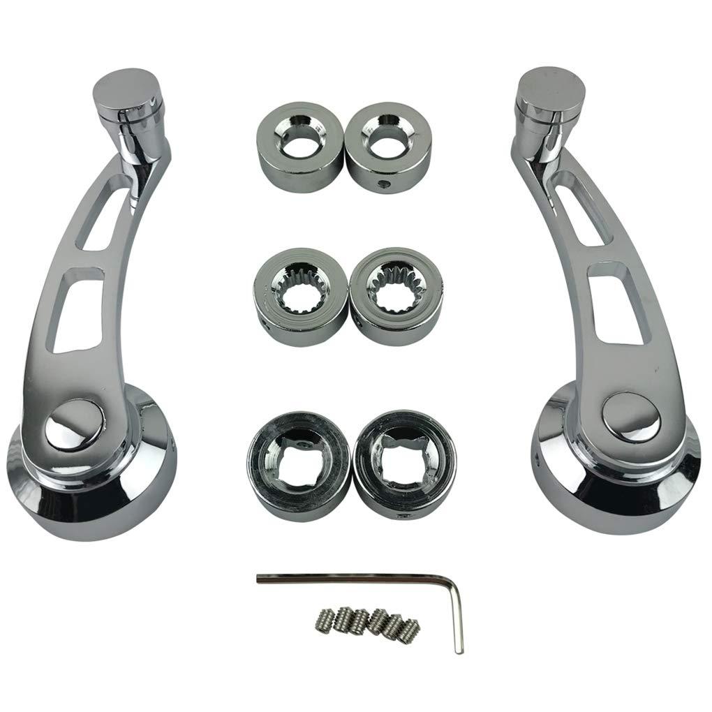 EgalBest 1 Pair Chrome Billet Aluminum 4-1//4 Window Crank Handle Kit Replacement for Hot Rod Chevy Ford Chrysler