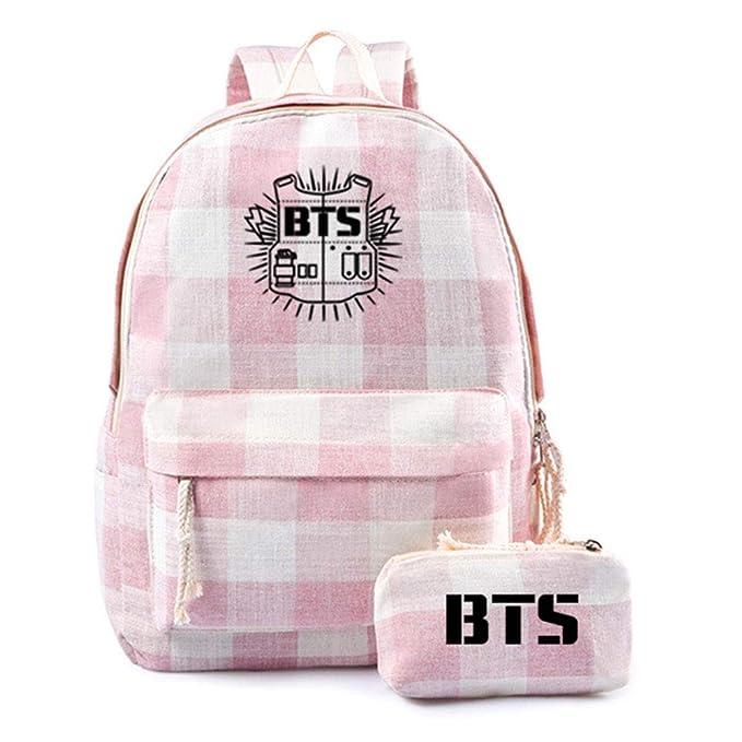 Amazon.com: BTS Mochila de viaje para estudiantes, escuela ...