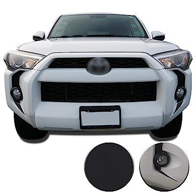 Optix Fog Light Bezel Fangs Precut Vinyl Wrap Overlay Kit Compatible with and Fits 4Runner 2014 2015 2016 2020 2020 2020 2020 - Matte Black: Automotive