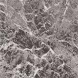 12'' x 12'' Vinyl Tile in Machine Grey Marble Quantity: 30 Pieces