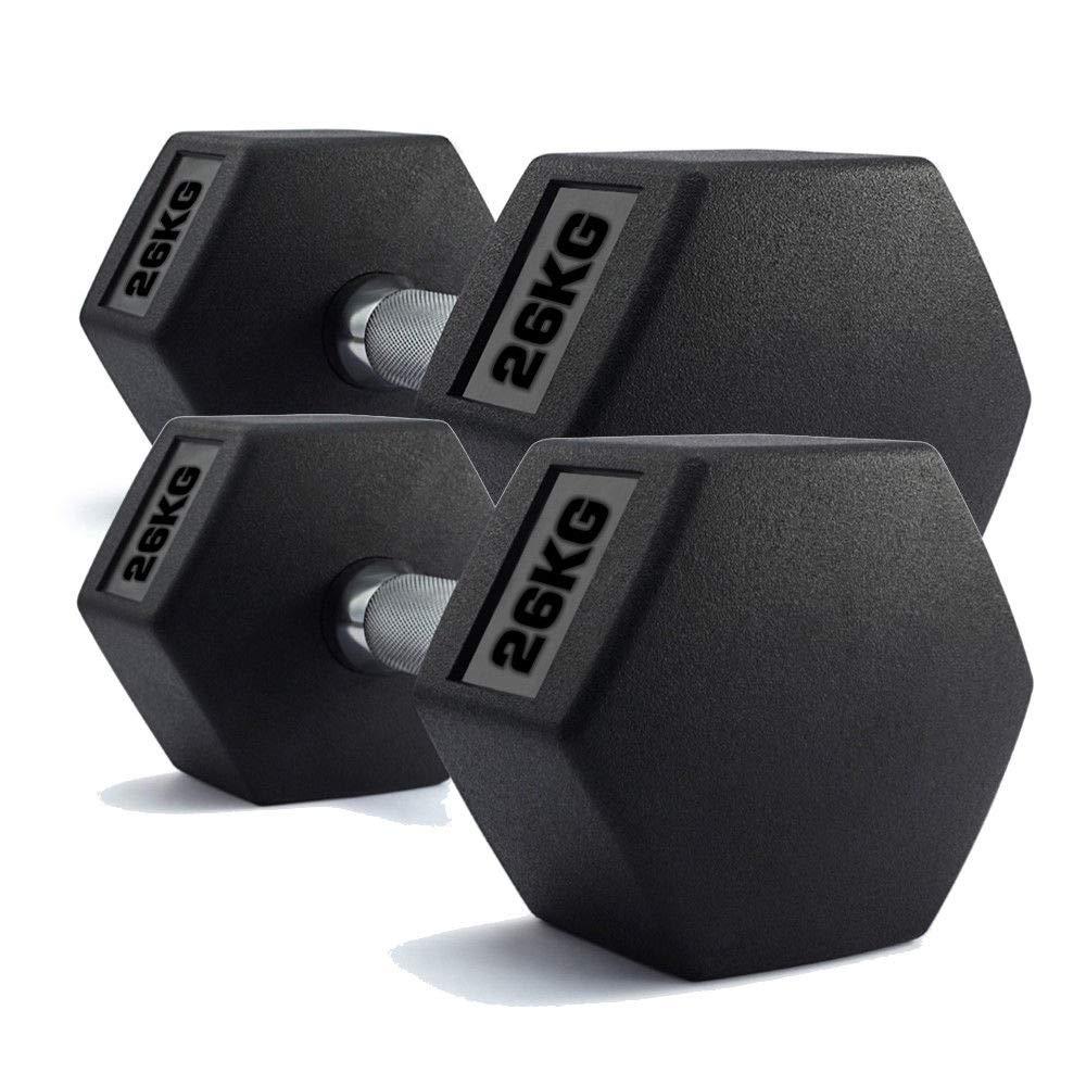 Generic - Juego de Mancuernas hexagonales para Gimnasio (2 x 26 kg ...