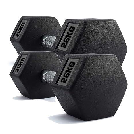Generic Fitn - Juego de Mancuernas hexagonales para Gimnasio (2 Unidades, 26 kg,