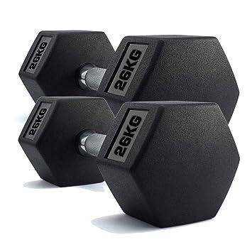 Juego de Pesas fi, Juego de Mancuernas hexagonales Fitne, 2 x 26 kg de