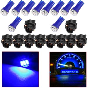 cciyu T5 Blue Instrument Dashboard Gauge Cluster Light 3-3014 SMD LED Wedge Lamp Bulbs Light T5 74 37 286 18 12v Instrument Light