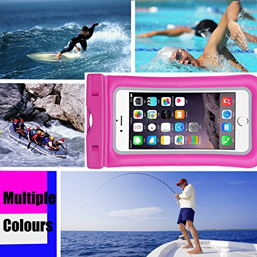 Venoro Universal Waterproof Case, IPX 8 Floating Waterproof Phone Pouch Underwater Dry Bag for iPhone X, 8/8 Plus, 7/7 Plus, Samsung Galaxy S9/S9 Plus, S8/S8 Plus, S7 Edge, LG V30, Moto G6 (2 Pack) by Venoro (Image #5)
