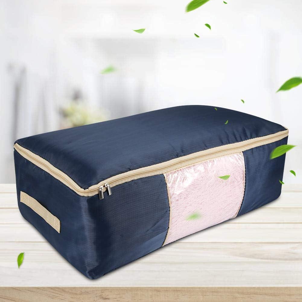 organisateur de stockage de sac de rangement de couverture Oxford sac de rangement en tissu v/êtements sacs de rangement Dark blue, extra large