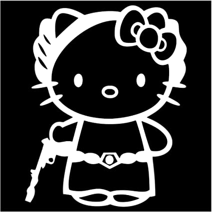 b0df9b4283645f Image Unavailable. Image not available for. Color  UR Impressions Princess  Leia Hello Kitty Decal Vinyl Sticker Graphics for Cars Trucks SUV Walls  Laptop