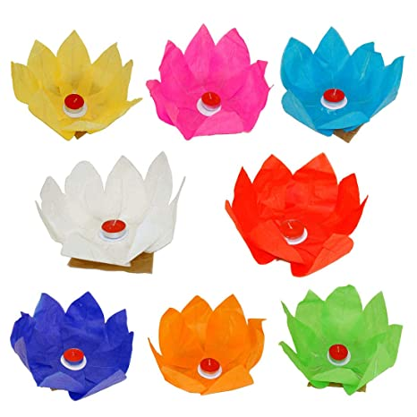 Buy Vg Toys Novelties Lotus Floating Water Paper Lantern Pack Of