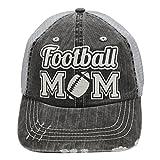 Football Mom Sports Trucker Style baseball Cap Hat Rocks any Outfit White glitter