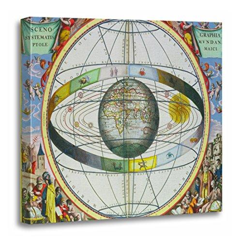 TORASS Canvas Wall Art Print Fine Map of Christian Constellations From Celesti Cellarius Artwork for Home Decor 20