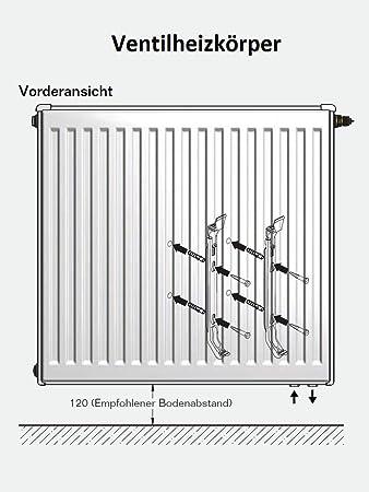 Buderus Ventilheizk/örper Typ 22 H/öhe 600 x L/änge 1200 mit Halter und Stopfen
