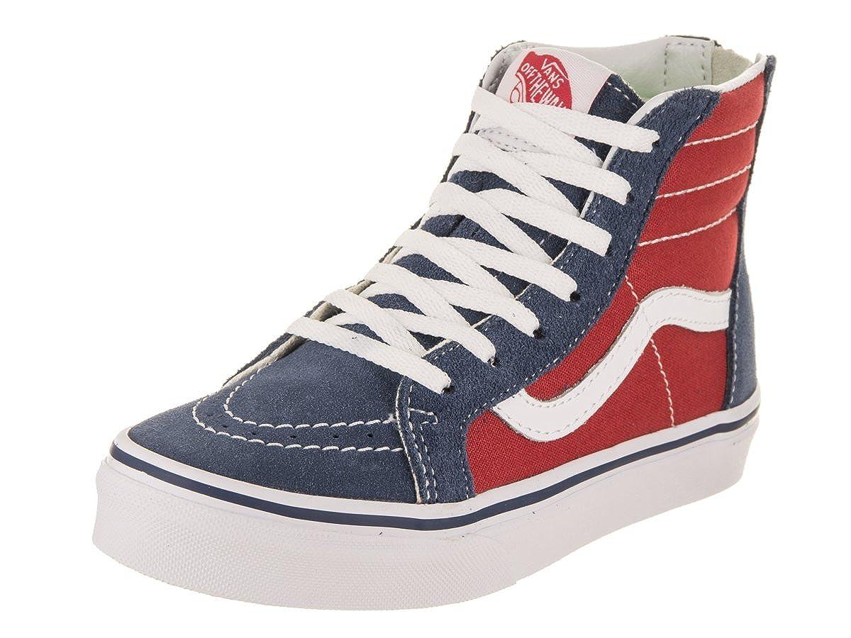 036aa8c29c45 Vans Kids Sk8-Hi Zip (Tri Pop) Vintage Indigo Skate Shoe 11 Kids US   Amazon.co.uk  Shoes   Bags