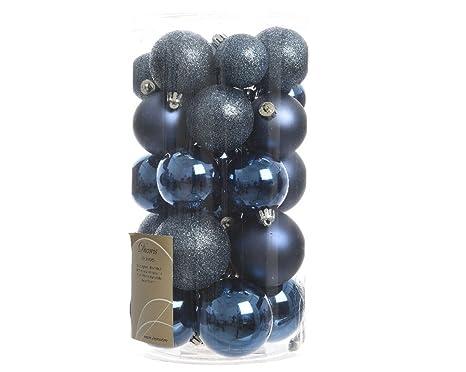 Albero Di Natale Con Decorazioni Blu : 30 palline di natale blu notte assortite albero di natale addobbi