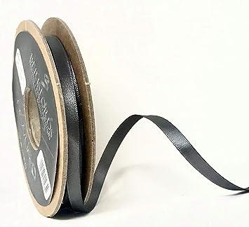 Smoked Grey Satin Ribbon by Berisfords Newlife Global 100/% Recycled Standard