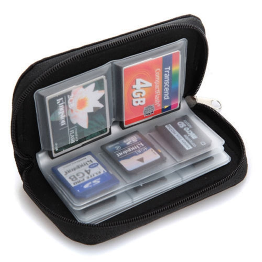 22 Slots Case Pouch Holder for Memory Card SD SDHC MMC CF Micro SD product image