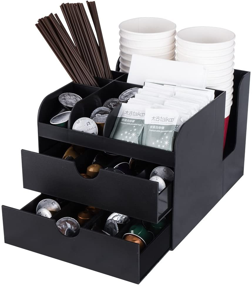Vencer Coffee Condiment And Accessories Caddy Organizer Black Vco 002 Amazon Co Uk Kitchen Home