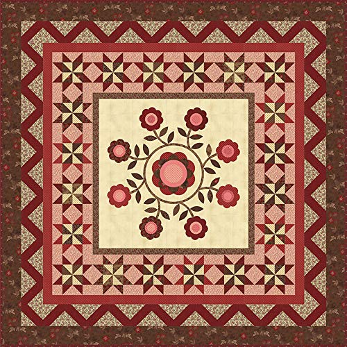 Betsy Chutchian Harriet's Handwork 1820-1840 Gather Round Quilt Kit Moda Fabrics KIT31570 ()