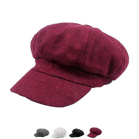 New Retro Elegant Winter Female Beret Duckbill Ivy Cap Woman Girl Flat  Cabbie Newsboy Warm Hat Black Red 3  Amazon.in  Home   Kitchen 7b311d5eca09