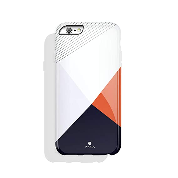 best loved 66492 193a2 iPhone 6 Plus & iPhone 6s Plus Case Geometric, Akna Charming Series High  Impact Silicon Cover with Full HD+ Graphics for iPhone 6 Plus & iPhone 6s  ...