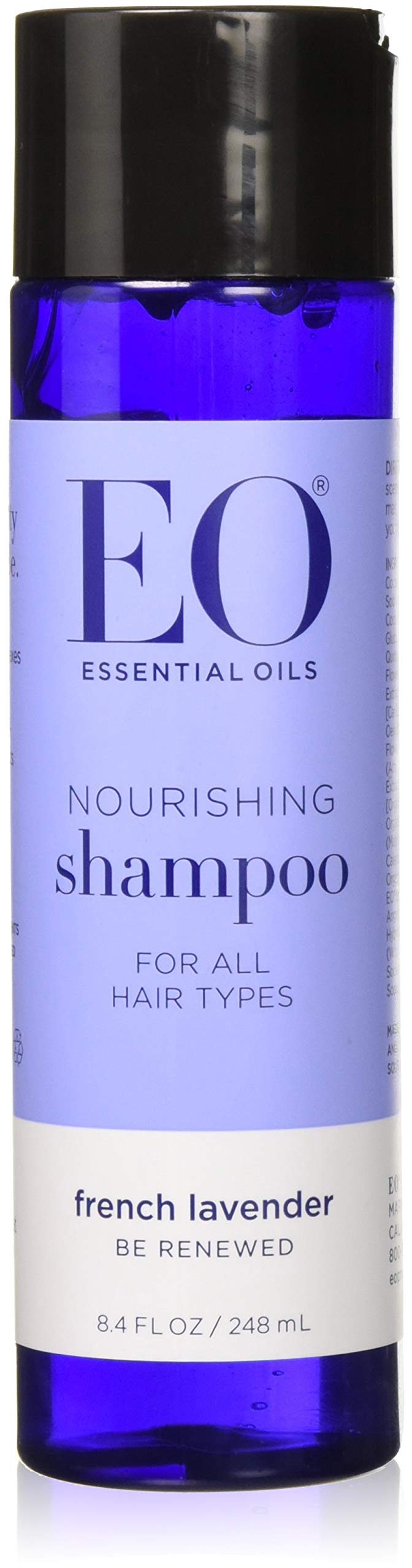 EO Pure Performance Botanical Shampoo, Everyday Leave-in or Rinse, French Lavender, French Lavender, 8.4 Ounce (Pack of 3)