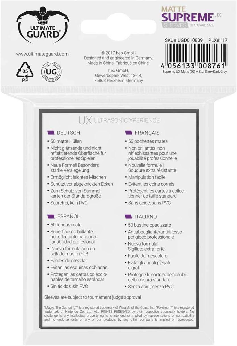 Ultimate Guard UGD010787 Protective Supreme UX Sleeves Card Game Black