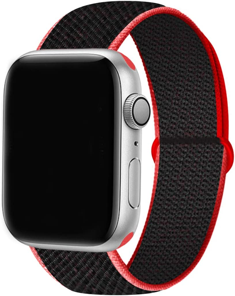 YC YANCH Sport Loop Compatible with Apple Watch Band 38mm/ 40mm/ 42mm/ 44mm, Breathable Soft Nylon Wristband Strap Replacement Compatible for iWatch Series 1/2/ 3/4/ 5/6/ SE