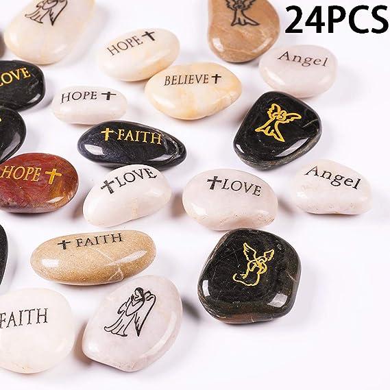 RockImpact 12PCS YOU ROCK Engraved Inspirational Stones Self Motivational Treat Wholesale Price Sentimental Gifts Encouragement Message Pebble Keepsake 2-3 each 5-8cm