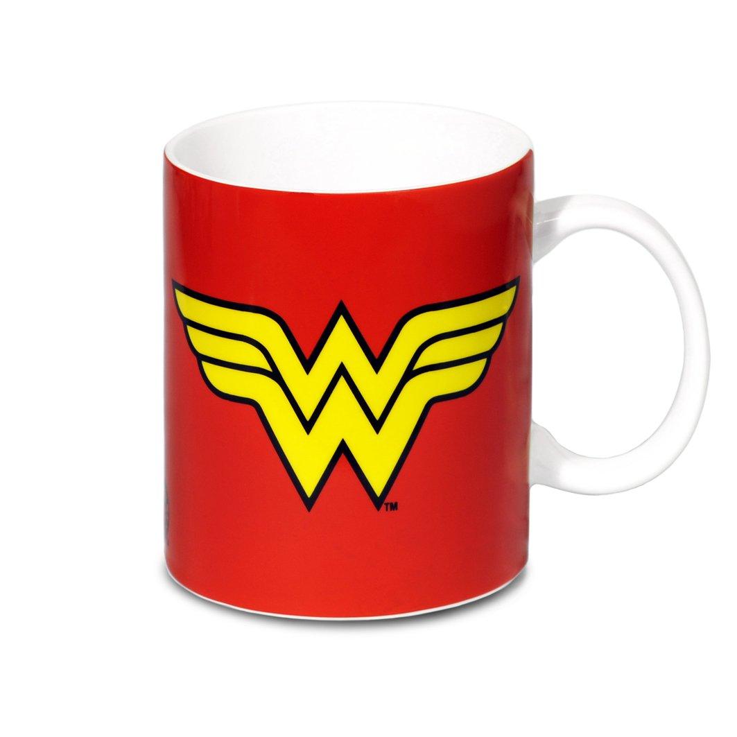 DC Comics Taza LOGOSHIRT Wonder Woman Taza de Cafe Dise/ño original con licencia