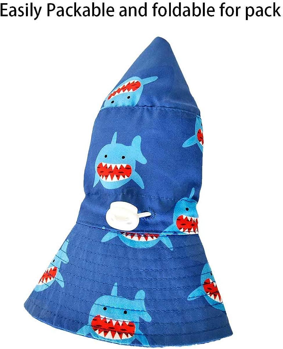 SOMALER Toddler Boys Girls Sun Hats Kids Wide Brim Outdoor Beach Pool Hat UV UPF50 Summer Play Hats