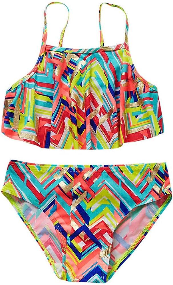 Mbby Costumi Da Bango Bambina Due Pezzi 7 12 Anni Colorati Stampa Bikini Ragazza Top Mutande 7 8 Anni Colorati Amazon It Abbigliamento
