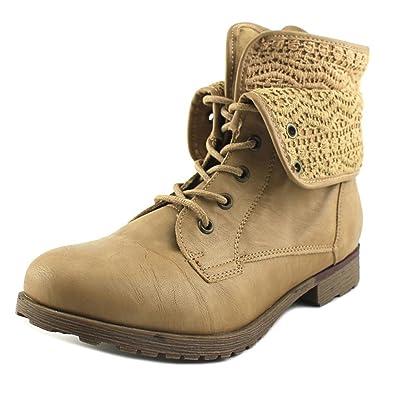 Womens Spraypaint Closed Toe Ankle Combat Boots NTNTL Size 8.0