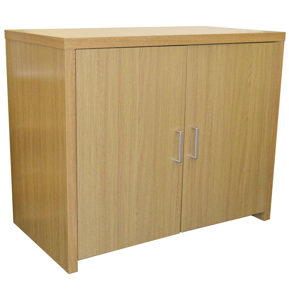 hideaway sideboard office computer storage desk oak baumhaus hidden home office