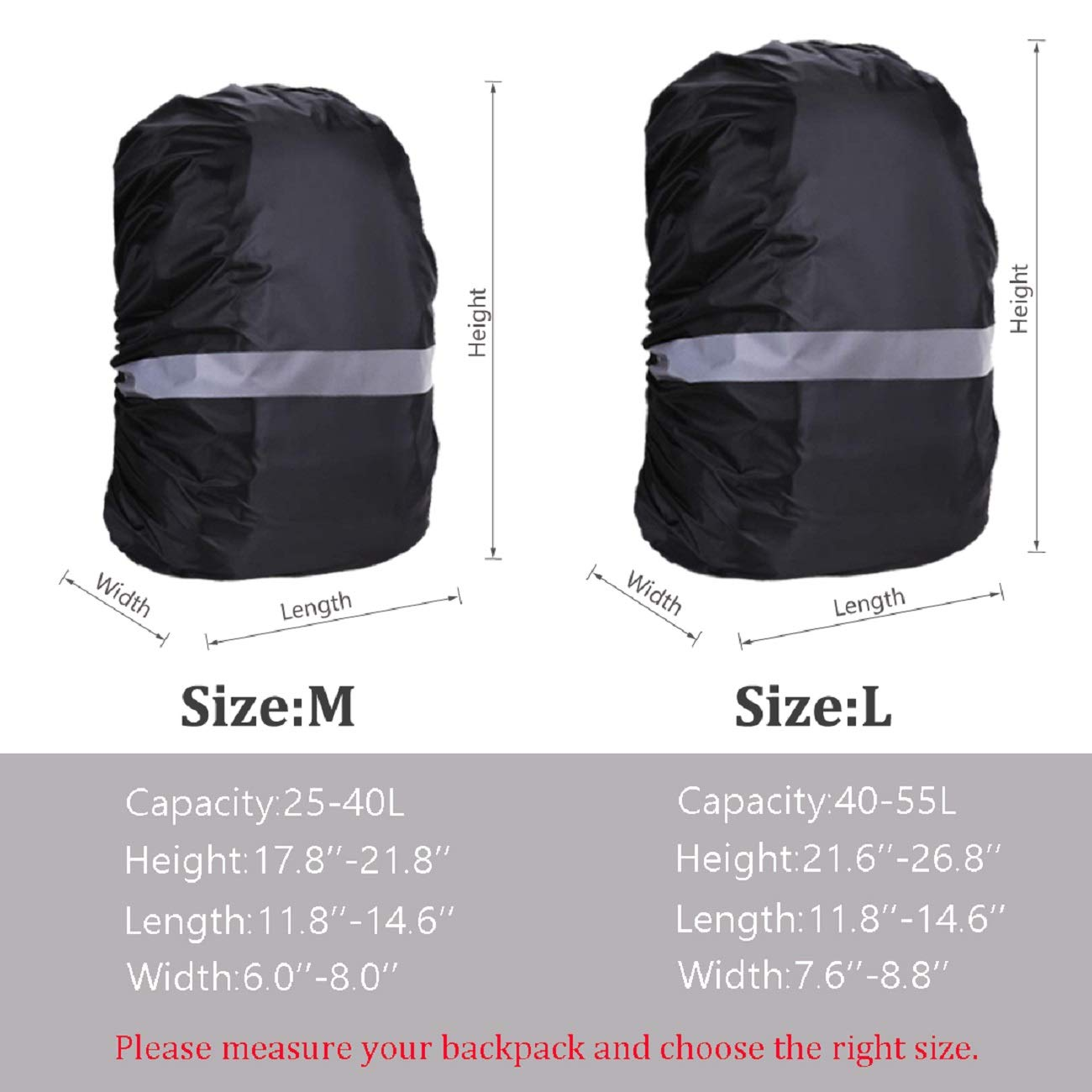 DLOONGS Waterproof Backpack Rain Cover/Portable Snow Defence Cover Ultralight Shoulder Protect Outdoor Tools with Anti-Slip Buckles /& Strengthened Layer