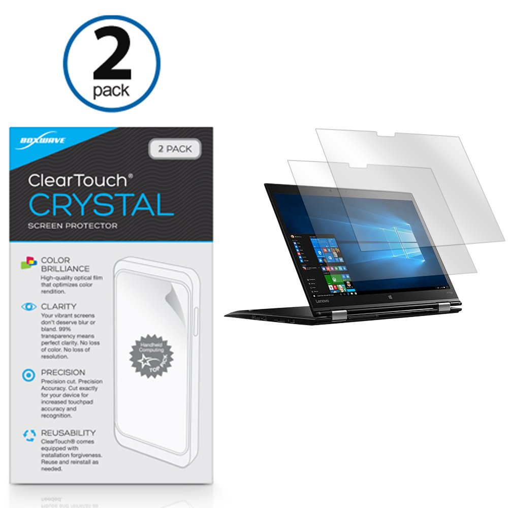 Lenovo Thinkpad X1 Yoga Screen Protector, BoxWave [ClearTouch Crystal (2-Pack)] HD Film Skin - Shields from Scratches for Lenovo Thinkpad X1 Yoga