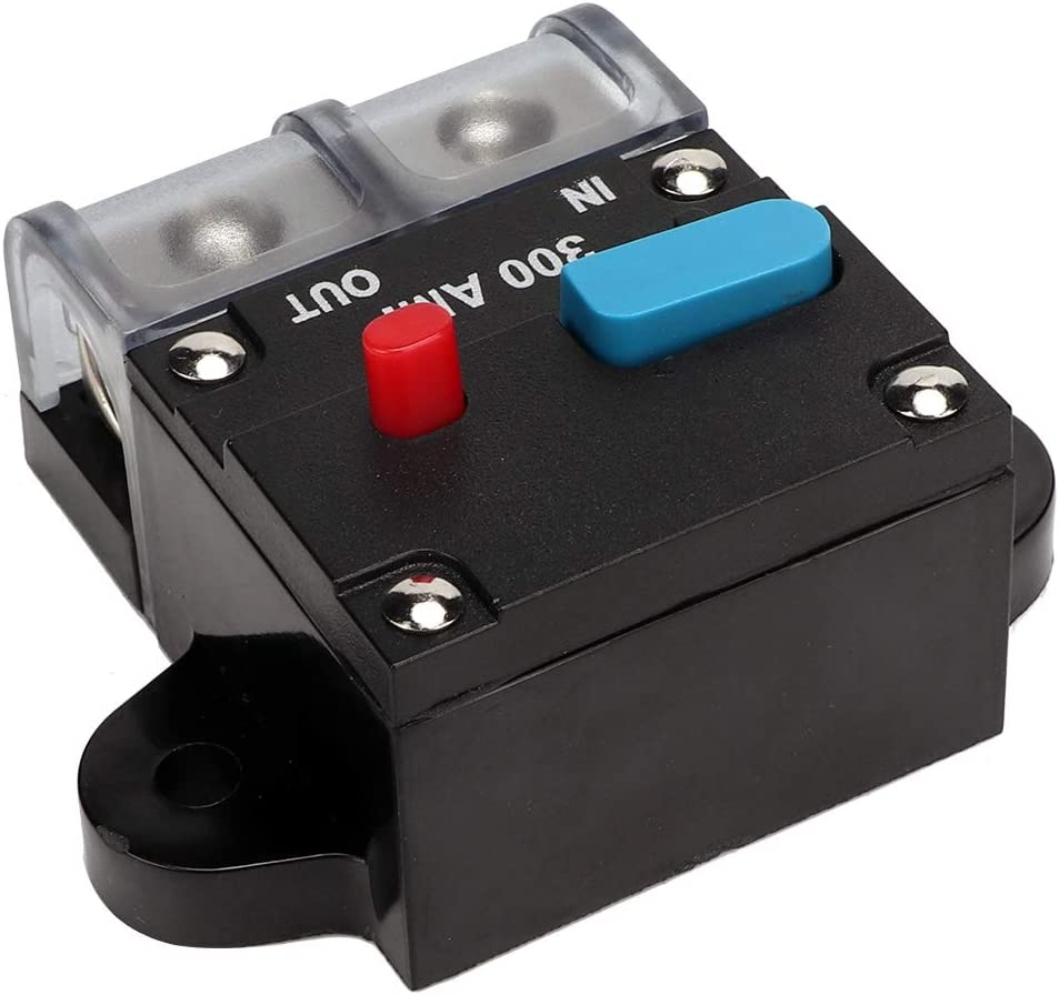 80A Qii lu 80A-300A Car Resettable Circuit Breaker Self-recovery Fuse Manual Reset Button