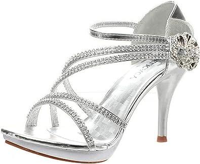 Fabulous WB 11 Womens Rhinestone Event Dress Wedge Sandals Silver