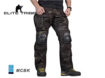 4e4a10cc52afc Men Military Airsoft Paintball BDU Pants Combat Gen3 Tactical Pants with  Knee Pad MultiCam Black (