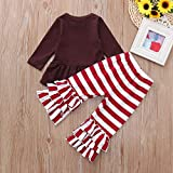 MODOQO Toddler Baby Girls Long Sleeve Tops with Pants for Thanksgiving Outfits Set
