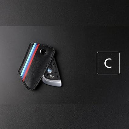 Genuine Leather Key Holder Case Cover For Bmw E90 F30 F34 F10 E70 E71 X1 X3 X4